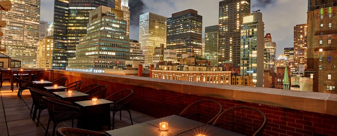 Rooftop BBQ at The Kitano Hotel New York Hotel