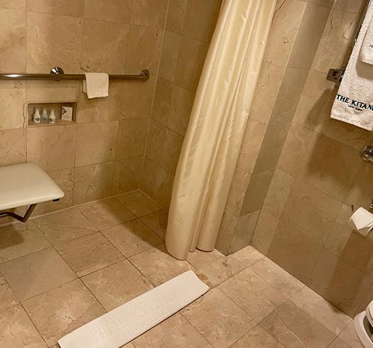 Accessible Superior King with Roll in Shower at The Kitano Hotel New York Hotel