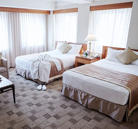 Premier Two Duble Beds in The Kitano Hotel New York Hotel